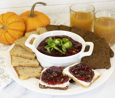Cranberry Salsa with Cocktail Rye