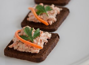 Curried Carrot Salad on Rye