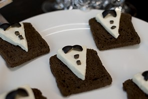 Tuxedo Appetizer on Cocktail Rye